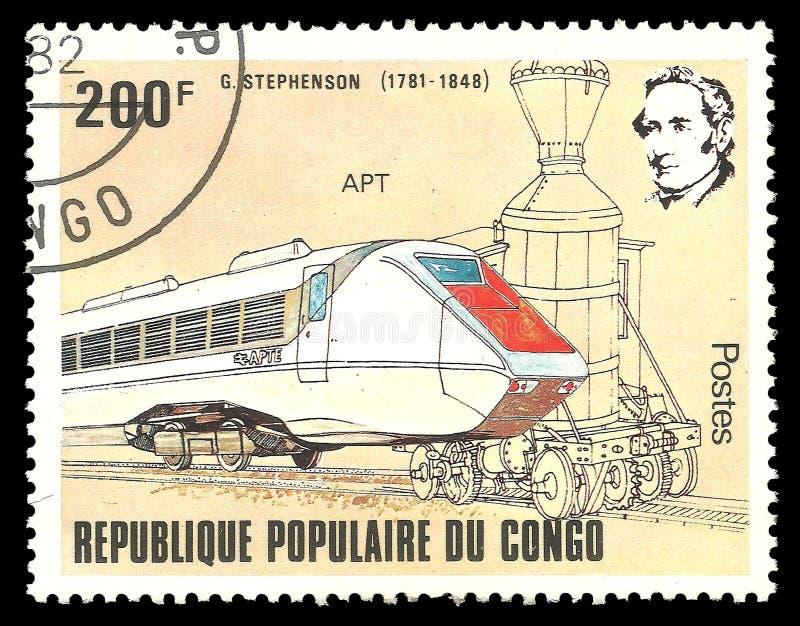 Trem de George Stephenson APTO imagem de stock royalty free
