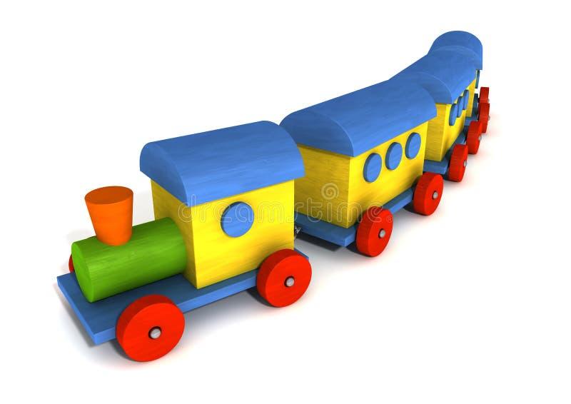 Trem de madeira do brinquedo ilustração stock