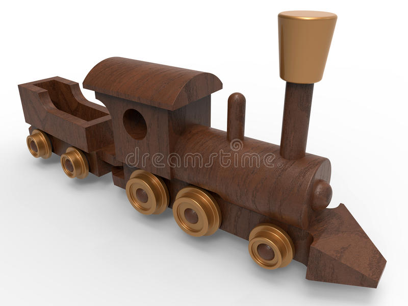 Download Trem De Madeira Do Brinquedo Ilustração Stock - Ilustração de criança, assoalho: 65575932