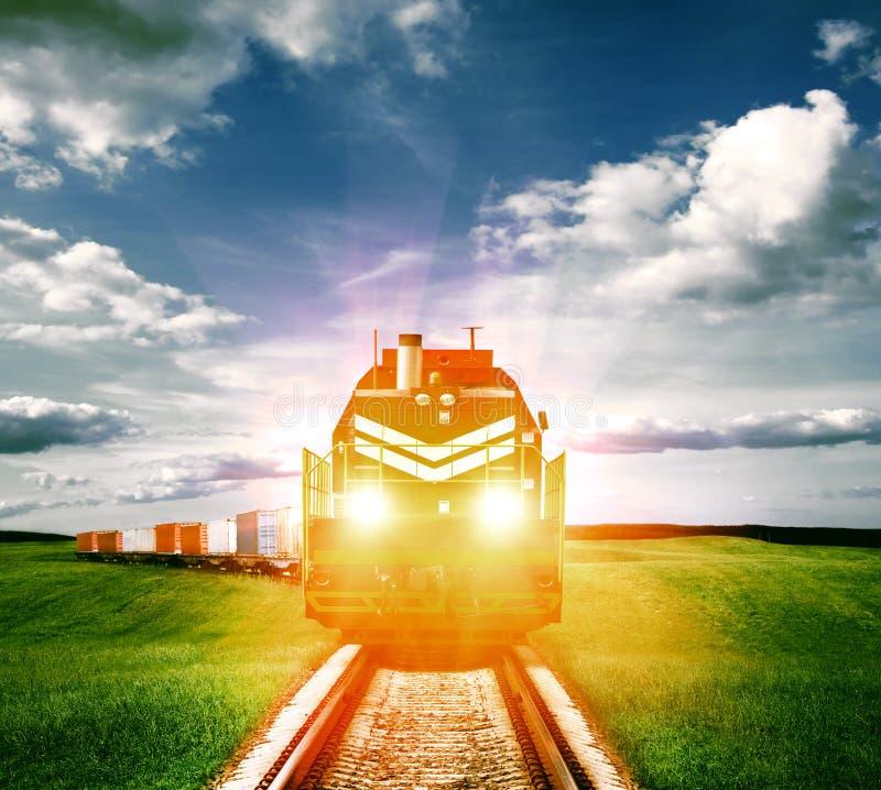 Trem de mercadorias imagem de stock