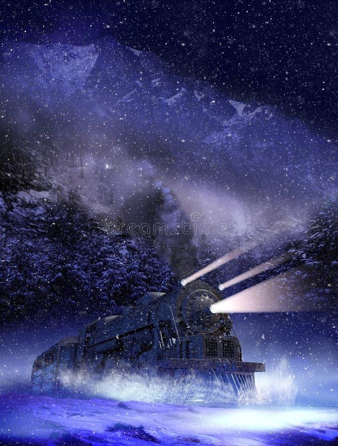 Trem de noite ilustração do vetor