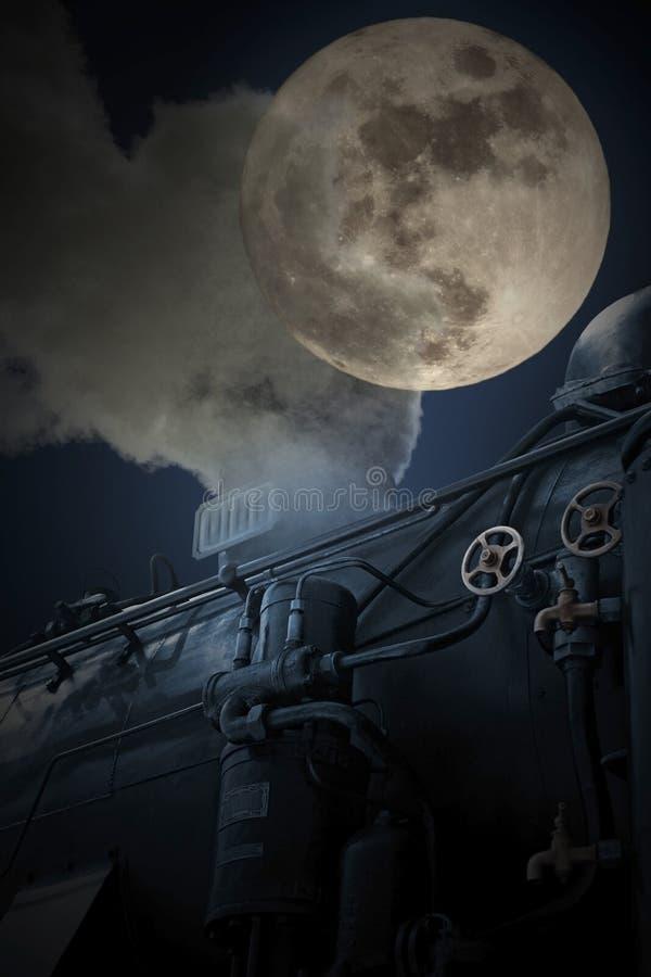 Trem de noite velho ilustração do vetor