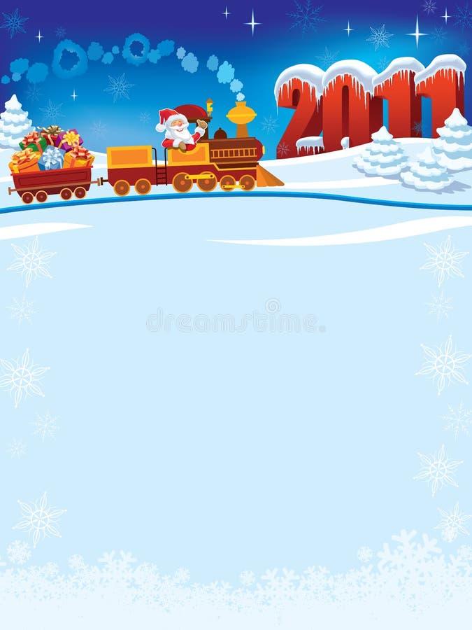 Trem de Papai Noel ilustração do vetor