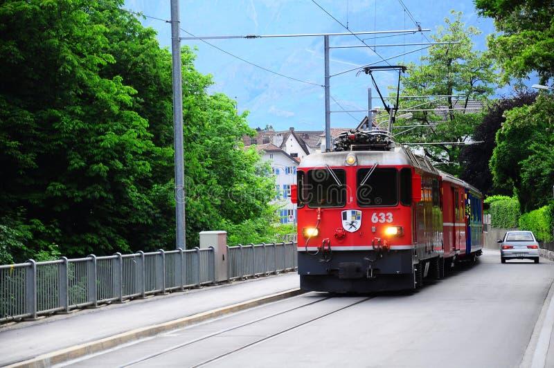 Trem de passageiros. imagem de stock
