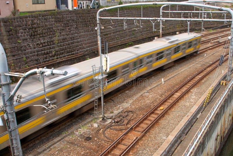 Trem de pressa de Tokyo imagem de stock