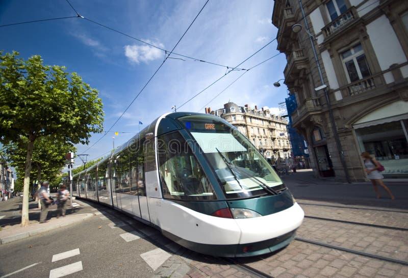 Trem de Strasbourg fotografia de stock royalty free