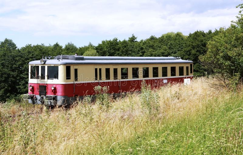 Trem diesel pequeno fotos de stock