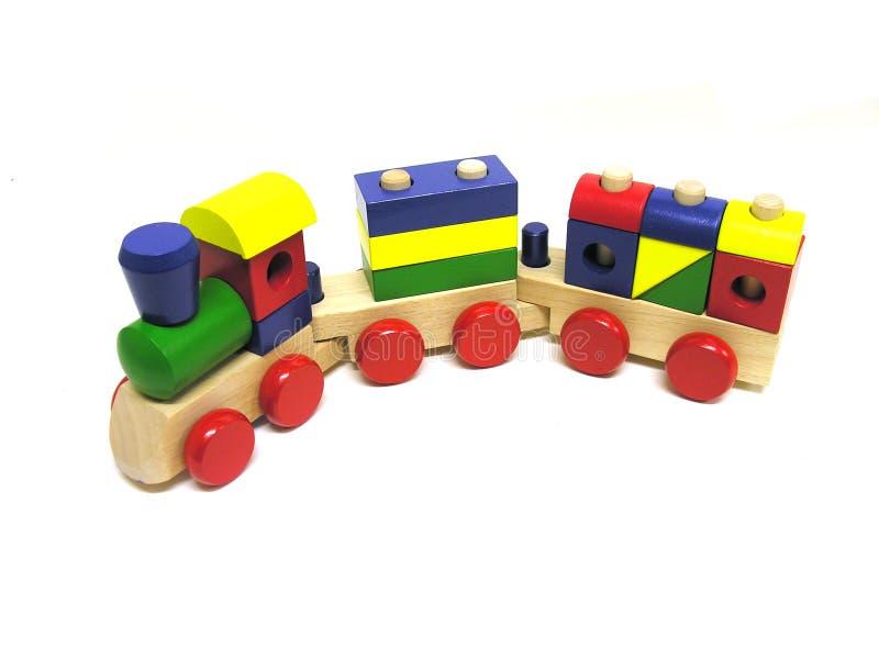 Trem do brinquedo fotografia de stock