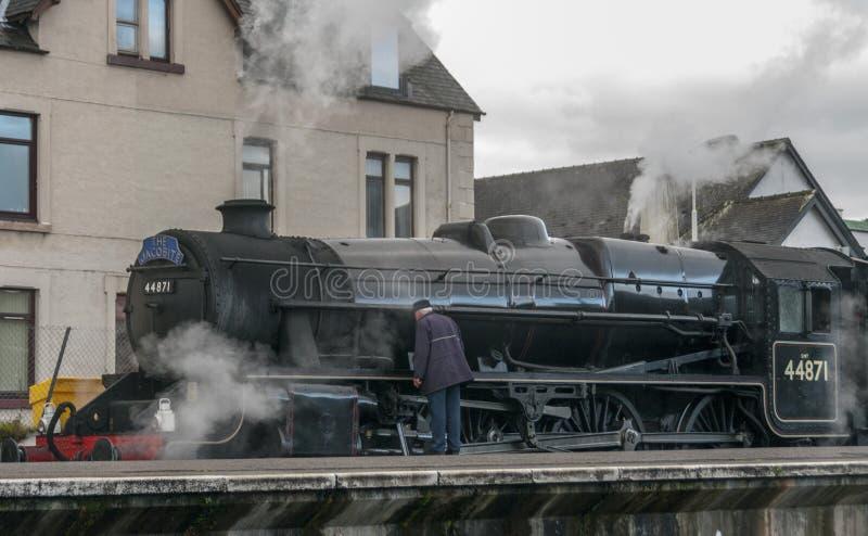 Trem do córrego de Jacobite fotografia de stock royalty free