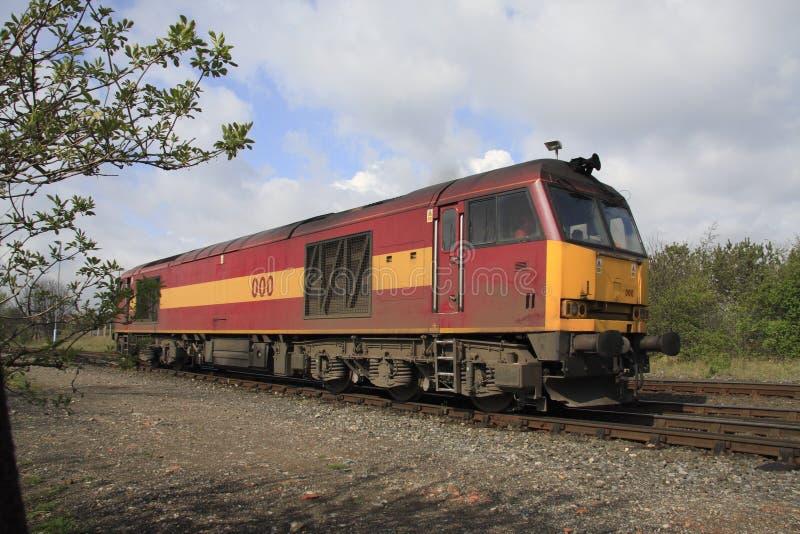 Trem do diesel imagens de stock