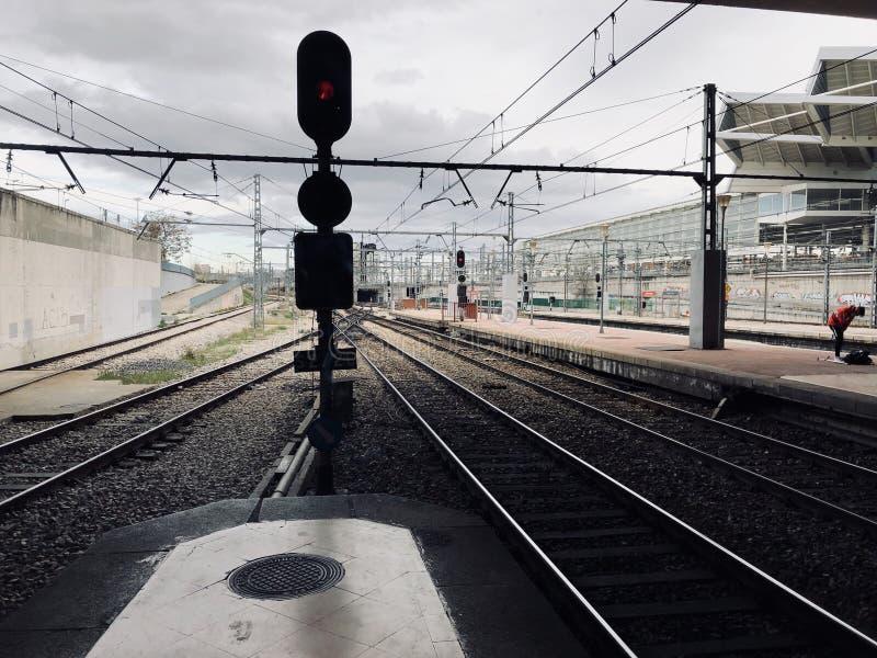 Trem do inverno imagens de stock royalty free