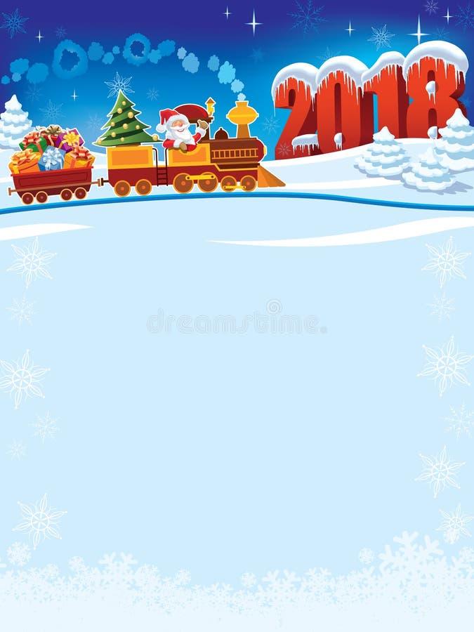 Trem do Natal a 2018 ilustração royalty free
