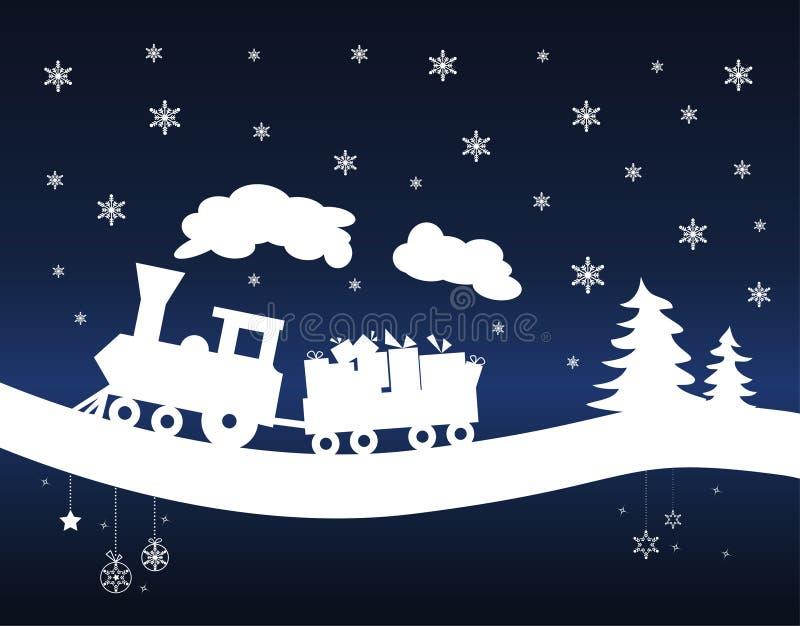 Trem do Natal ilustração royalty free