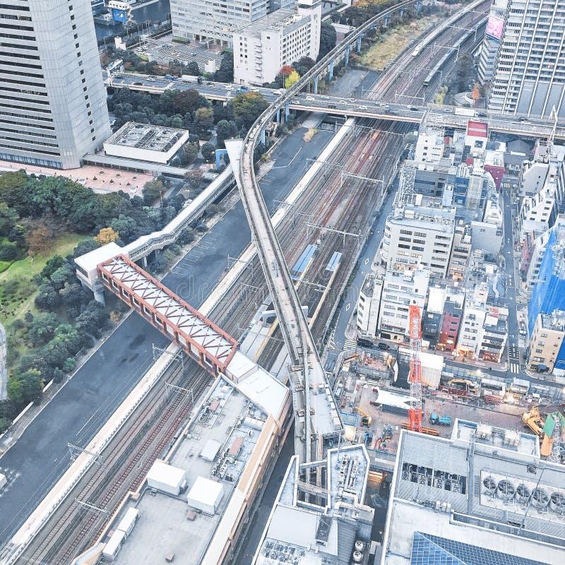 Trem do Tóquio fotos de stock royalty free