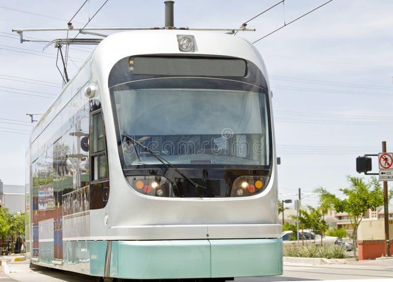 Trem do trilho da luz do metro de Phoenix fotografia de stock royalty free