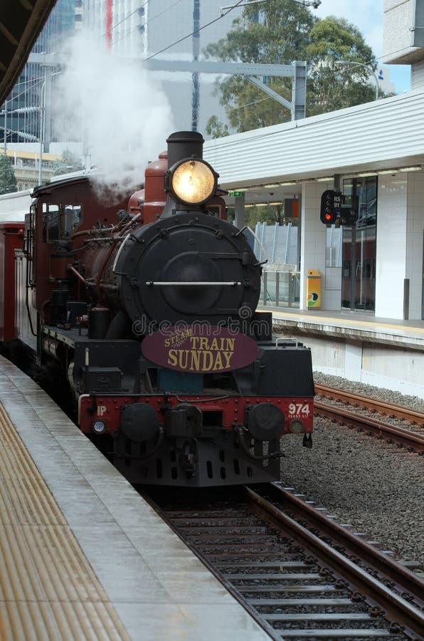 Trem do vapor de Brisbane foto de stock royalty free