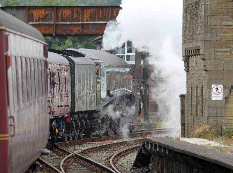 Trem do vapor de Gresley A4 o Pacífico 60009 em Carnforth fotos de stock