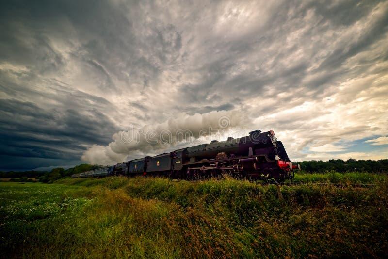 'Trem do vapor de Scot real' foto de stock royalty free