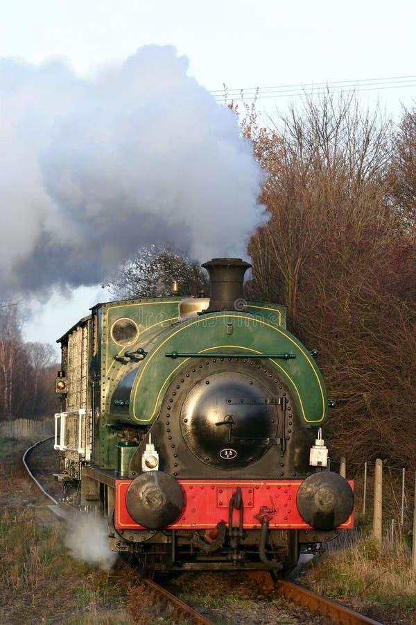 Trem do vapor no centro da herança de Elsecar fotos de stock royalty free