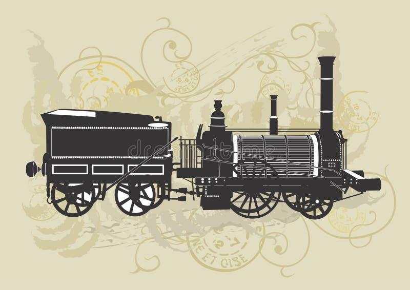 Trem do vintage ilustração do vetor