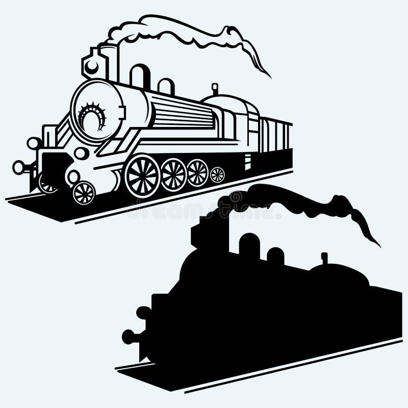 Trem do vintage Vetor ilustração do vetor