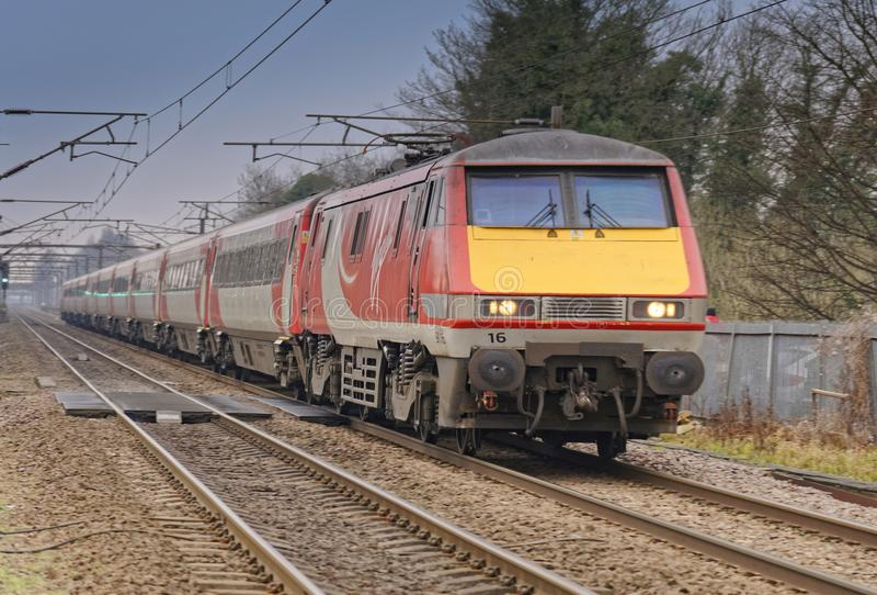 Trem do Virgin imagem de stock