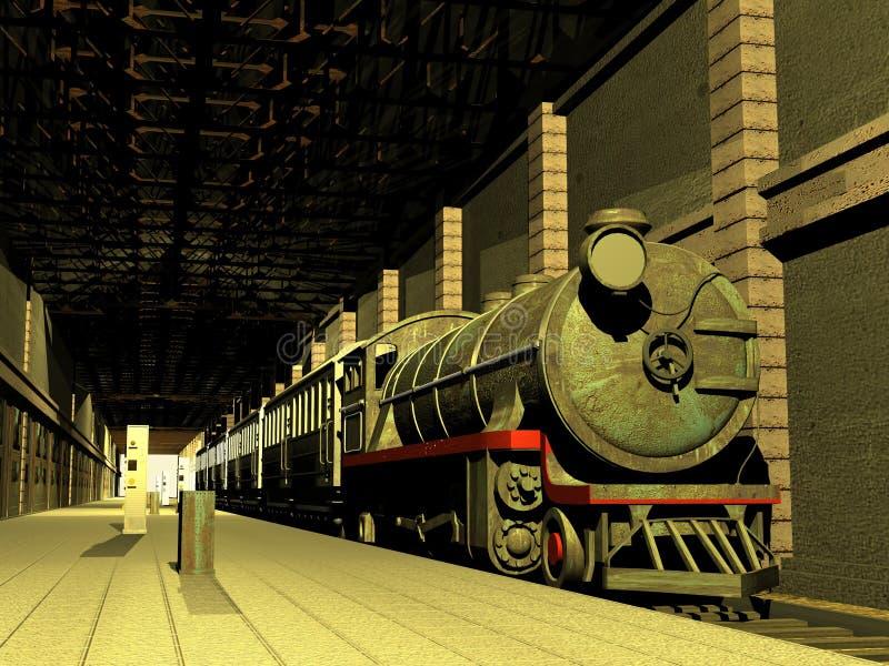 Trem e vagões ilustração royalty free