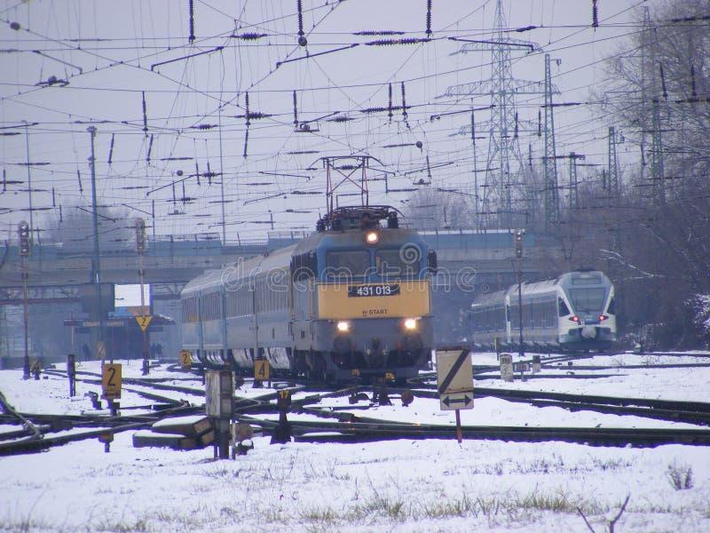 Trem elétrico fotografia de stock royalty free