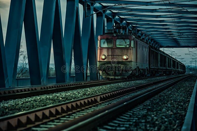Trem elétrico velho foto de stock royalty free