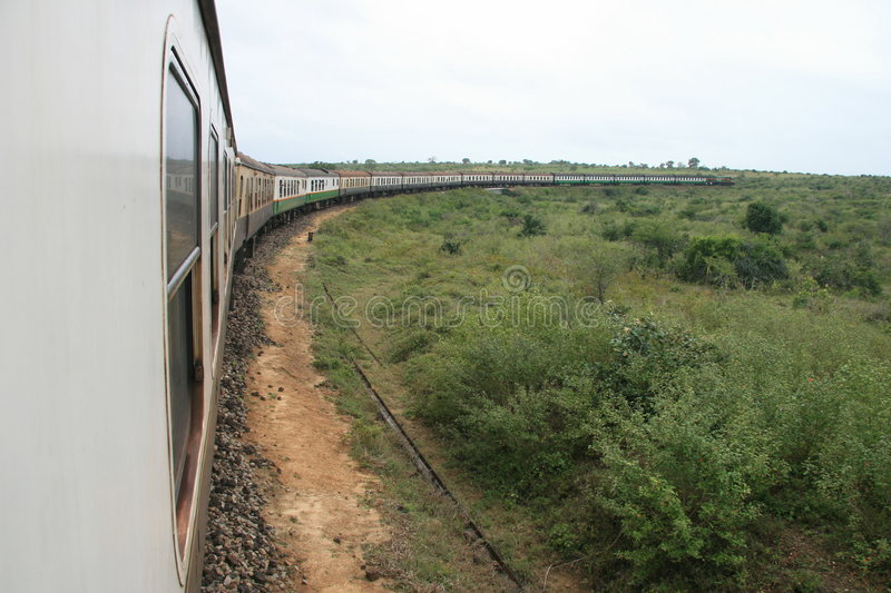 Trem em África foto de stock royalty free