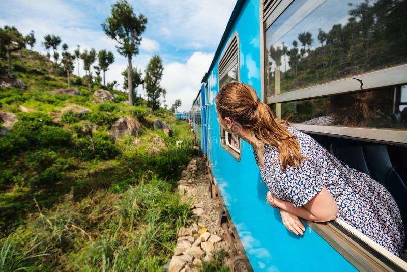 Trem em Sri Lanka fotos de stock