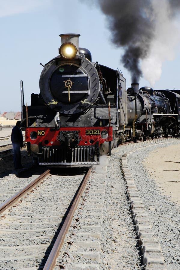 Trem Em Swakopmund, Namíbia Do Vapor Fotos de Stock