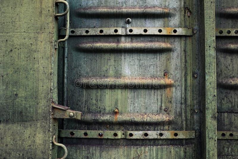Trem industrial do close up da textura do metal fotografia de stock royalty free