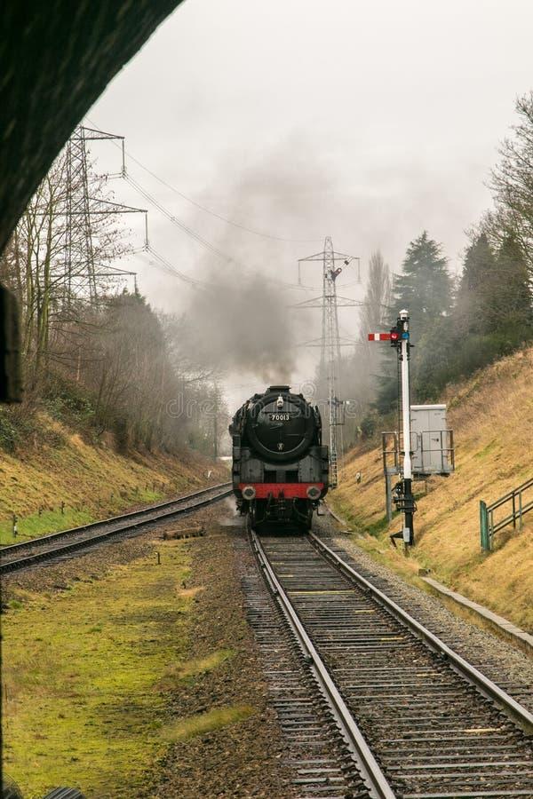 Trem inglês do vapor foto de stock royalty free