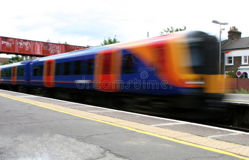 Trem interurbano imagens de stock