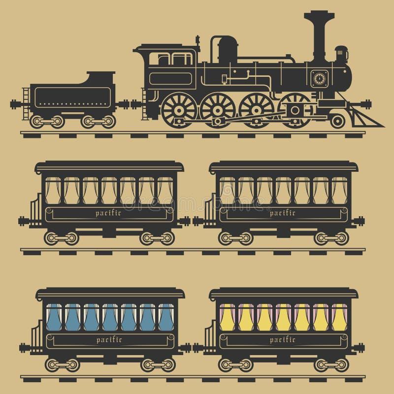 Trem locomotivo ilustração royalty free