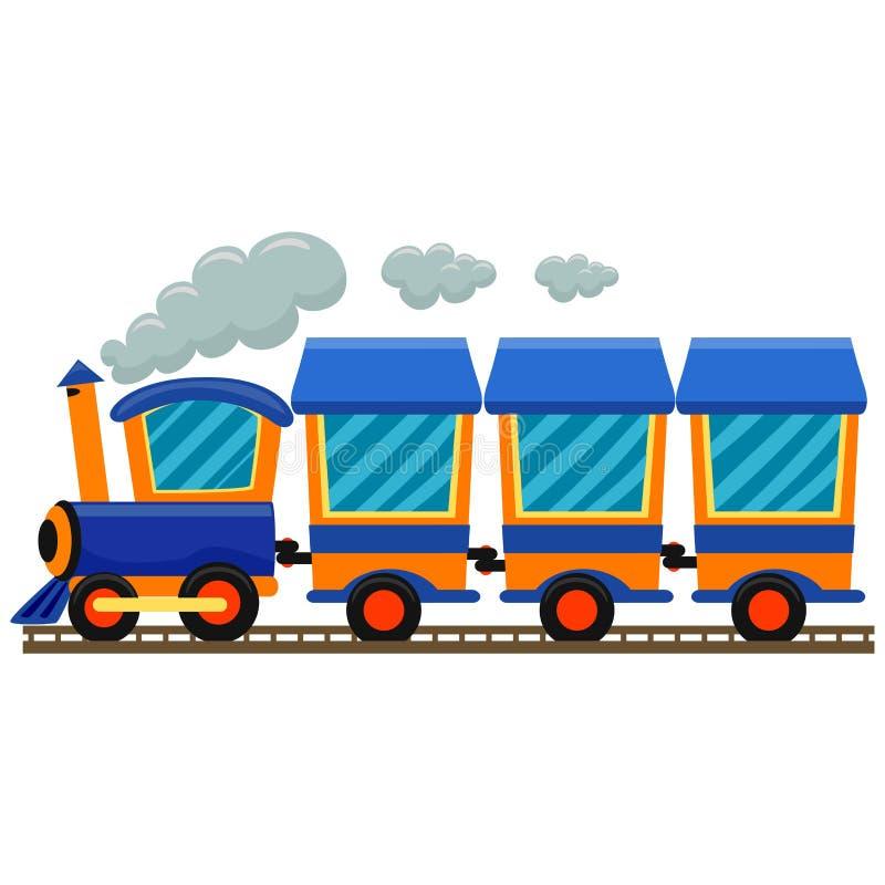 Trem locomotivo colorido ilustração stock