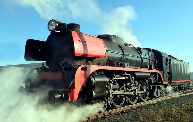 Trem locomotivo do vapor foto de stock