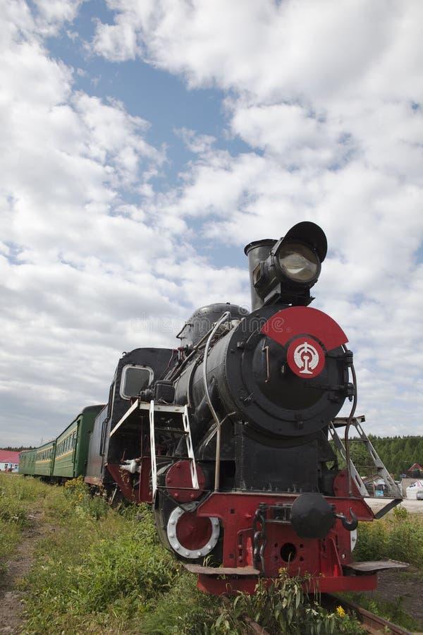 Trem locomotivo velho fotografia de stock