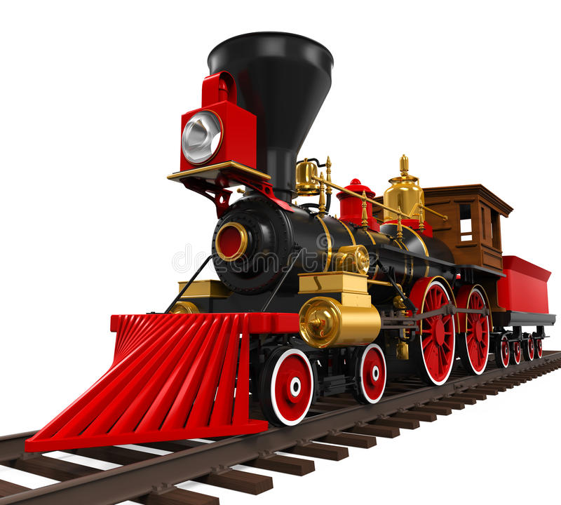 Trem locomotivo velho ilustração royalty free
