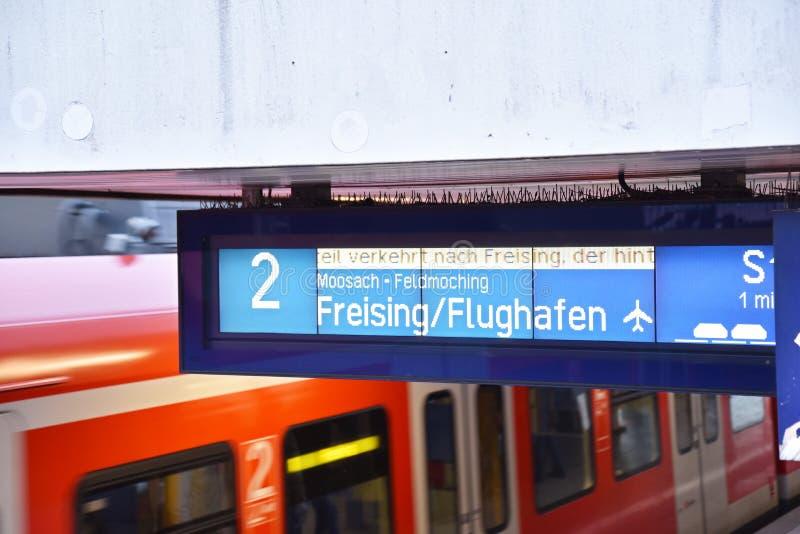 Trem Munich do aeroporto fotografia de stock