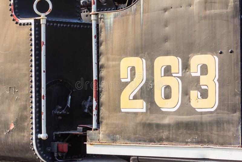 Trem número 263 fotografia de stock