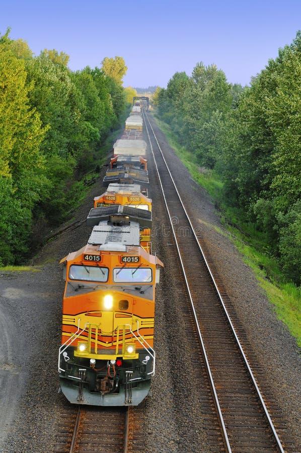 Trem no estado de Washington imagem de stock