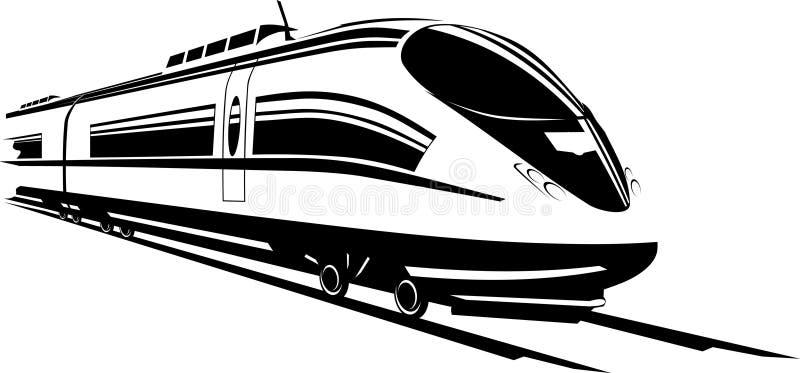Trem rápido ilustração royalty free