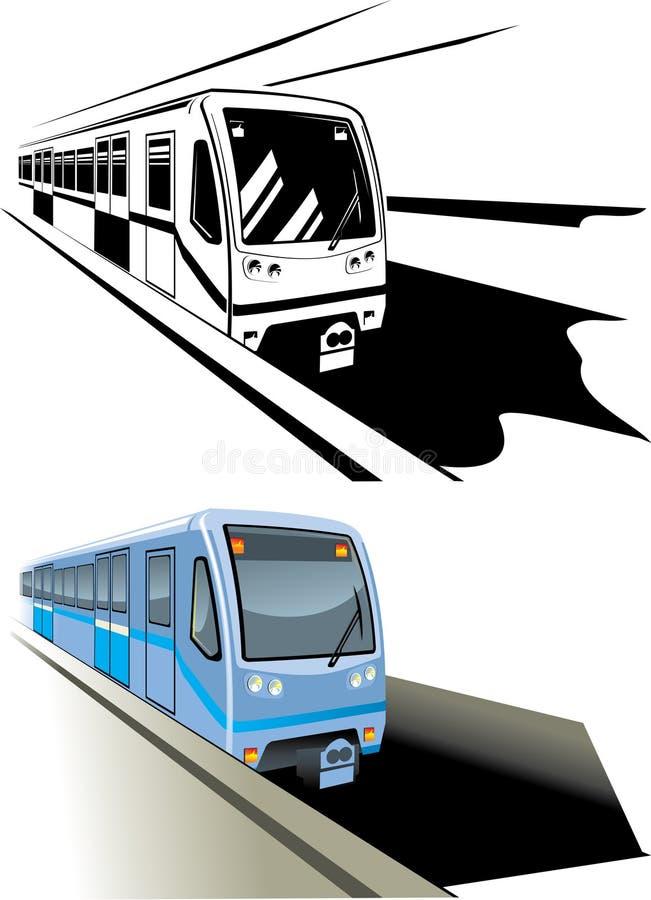 Trem rápido do metro ilustração stock
