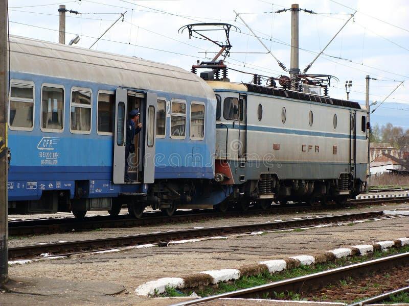 Trem romeno imagens de stock royalty free