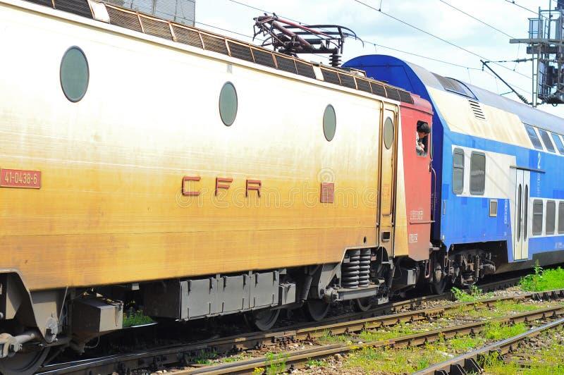 Trem romeno das estradas de ferro fotos de stock royalty free