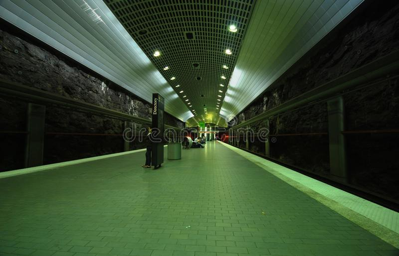 Trem subterrâneo em Atlanta fotos de stock