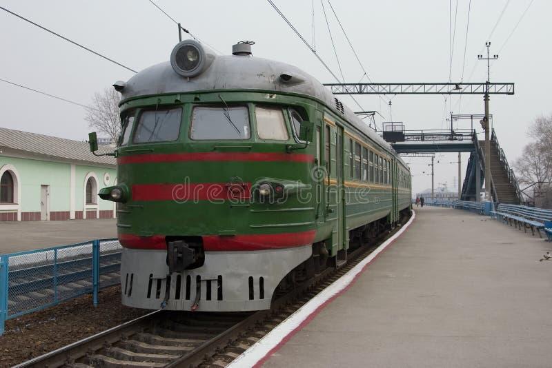 Trem suburbano. imagens de stock royalty free