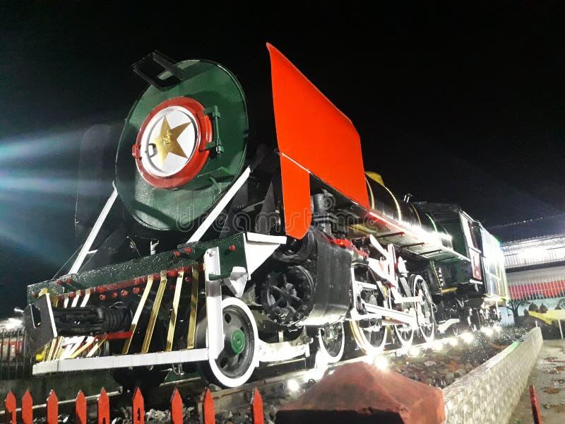 Trem velho na exposição foto de stock royalty free